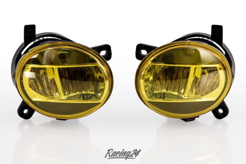 LED Nebelscheinwerfer Set, gelb, Klarglas für Audi A1, A4, A6, Q5, VW Passat CC, Seat Exceo